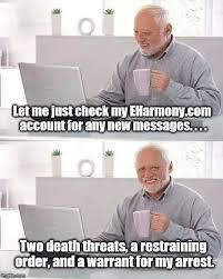 Eharmony Meme - hide the pain harold meme imgflip