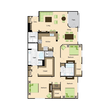 3 Bed 2 Bath Floor Plans by Floor Plans Phipps Place Luxury Buckhead Apartments In The Atlanta