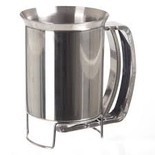 stainless steel cake batter dispenser and funnel amazon co uk