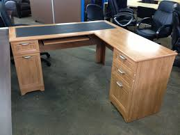 Office Desk With Hutch L Shaped by Scratch U0026 Dent L Shaped Outlet Desk 60
