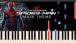 the amazing spider man young peter main theme synthesia piano
