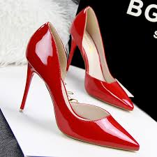 black high heels red bottom is heel