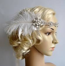 great gatsby headband rhinestone headband headpiece with feathers great gatsby