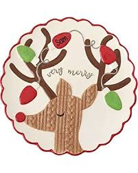 personalized platter new shopping special mud pie 4075120 reindeer personalized