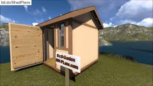 8x8 garden storage shed plan youtube