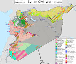 Syria World Map by Detailed Map Of General Situation In Syria As Of June 2016 With