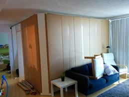Ikea Room Divider by A Temporary Removable Wall Creates An Extra Bedroom From Ikea