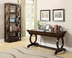 Transitional Office Furniture by Desks And Tables Kit Enedina Transitional Chestnut Office Desk