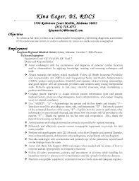 ultrasound resume resume