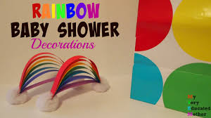Rainbow Centerpiece Ideas by Rainbow Baby Shower Decorations Youtube