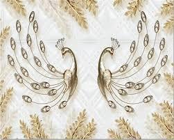 beibehang wallpaper european luxury 3d 3d gold leaf peacock