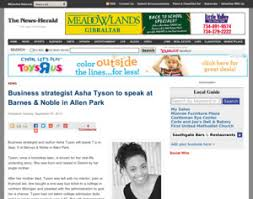 Barnes And Noble Allen Park Barnes And Noble Business Strategist Asha Tyson To Speak At