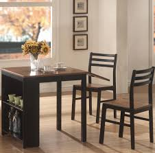 Space Saving Dining Tables by Dining Room Square Black And Brown Oak Wood Dining Table With
