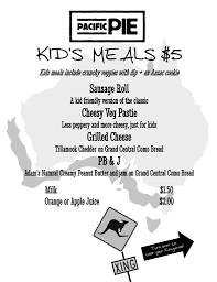 kid u0027s menu