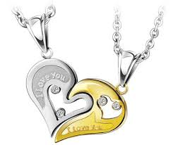 her necklace images I love you couple interlocking heart necklaces czs set for him and jpg