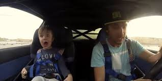 kid takes a spin with race car driver dad totally loses it huffpost
