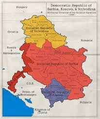 Map Of Serbia Democratic Republic Of Serbia Kosovo I Vojvodina By Zalezsky On