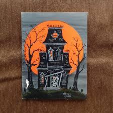 Irish Halloween Poems One Vintage Halloween Haunted House Tally Score Cards Hallmark