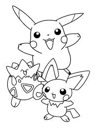 pokemon pikachu friends coloring pages kids goa