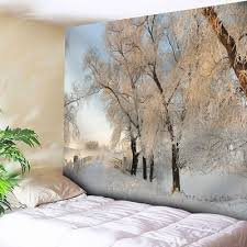 Online Shopping Bedroom Accessories Bedroom Decor Snowscape Wall Tapestry W91 Inch L71 Inch 20 64