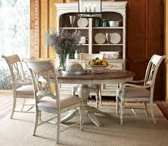 weatherford cornsilk milford round dining room set from kincaid