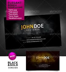 bokeh business card black gold by adverka graphicriver