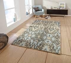 beige blue modern aztec rug spectrum 100 wool hand tufted large