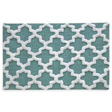 Aqua Bathroom Rugs Buy White Aqua Bath Rugs From Bed Bath Beyond