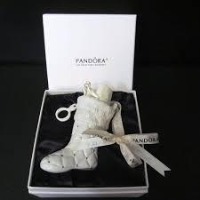 pandora 2012 white boot ornament