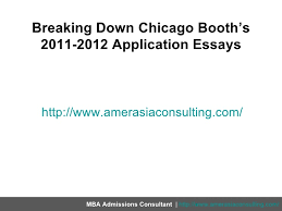 Chicago Booth Mba Essay Questions Ysis Tips Cabral Construction