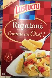 cuisine comme un chef rigatoni comme un chef lustucru 500 g