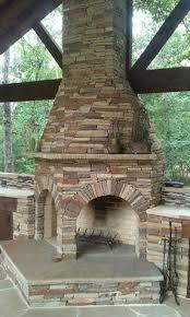 Stone Fireplace Kits Outdoor - grand stone outdoor wood burning fireplace kit fireplace kits