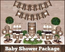 rustic baby shower rustic baby shower decorations printable package gender