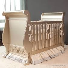 chelsea sleigh crib in antique silver