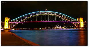 New South Wales Flag Hintergrundbilder Beleuchtung Stadt Nacht Symmetrie Skyline