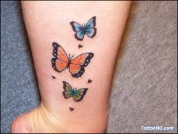 three butterfly labels beautiful tattoos butterfly