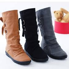 womens boots mid calf brown aliexpress com buy fashion autumn winter boots
