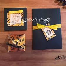 Yellow Wedding Invitation Cards Online Get Cheap Wedding Invitation Card Black Ribbon Aliexpress