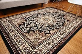 Black And Beige Rug Amazon Com Generations New Oriental Traditional Isfahan Persian