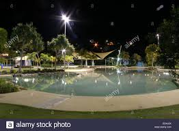 Pool At Night Public Lagoon Swimming Pool At Night Airlie Beach Queensland