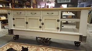 Industrial Kitchen Islands Steunk Industrial Kitchen Island With Drop Leaf Top