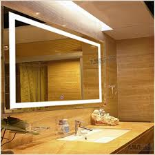 Wall Mounted Mirror With Lights Rectangular 3x4 Inch Wall Mounted Vanity Mirror With Led Lighting