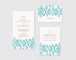 Wedding Invitations Hotel Accommodation Cards Ikat Watercolor Wedding Invitations Fine Day Press