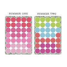 summer polka dot wall sticker set by oakdene designs summer polka dot wall sticker set