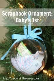 diy scrapbook ornament baby s 1st ornament