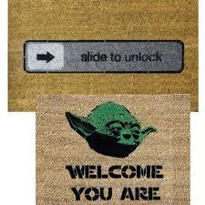 Geek Doormat You Know You U0027re A Geek When You Have A Yoda Doormat