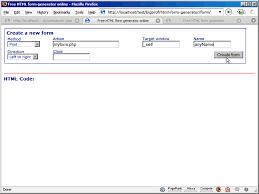 online html class free html form generator