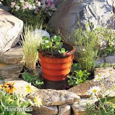 How To Start A Flower Garden In Your Backyard How To Build A Pond U0026 Diy Fountain In One Day Family Handyman