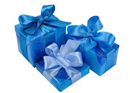 boxes with bows blue gift boxes with bows stock photo image of color 12719150