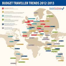 cheap travel destinations images Infographic budget traveller trends 2012 13 hostelbookers png